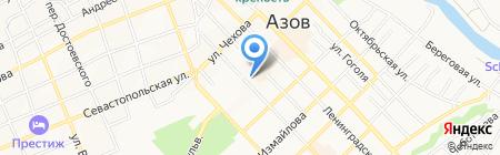 На Петровском на карте Азова
