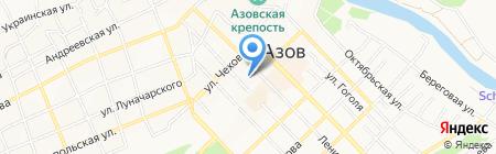 Детская центральная поликлиника г. Азова на карте Азова