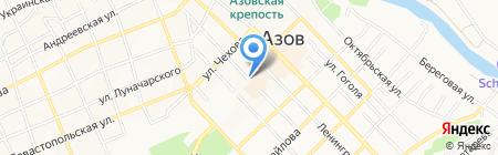 Весна на карте Азова