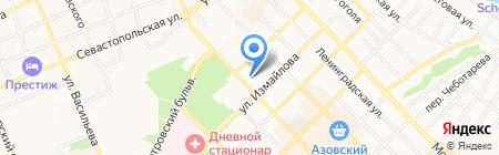 Межшкольный учебный комбинат г. Азова на карте Азова