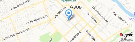 Маджента на карте Азова