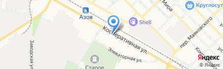 Ландшафт Азов на карте Азова