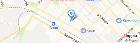 Главное бюро медико-социальной экспертизы по Ростовской области на карте Азова
