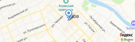 Банкомат Московский Индустриальный банк на карте Азова