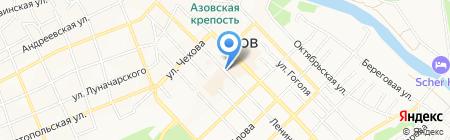 Киоск фастфудной продукции на карте Азова