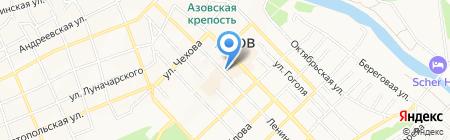 Сеть магазинов книг и канцелярских товаров на карте Азова