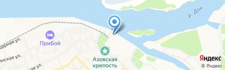 Тартуга на карте Азова