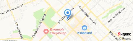 Азовский гуманитарно-технический колледж на карте Азова