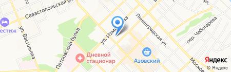 Управление Федеральной службы государственной регистрации на карте Азова