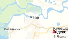 Гостиницы города Азов на карте