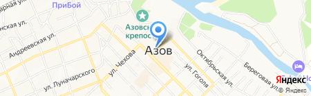 Петровский на карте Азова