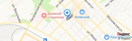 Монолит на карте Азова