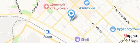 Продуктовый магазин в Коллонтаевском переулке на карте Азова
