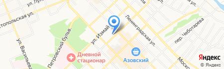 Детский сад №17 Солнышко на карте Азова