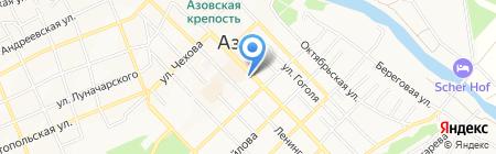 Азовское на карте Азова