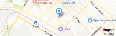 Дон-пресс на карте Азова
