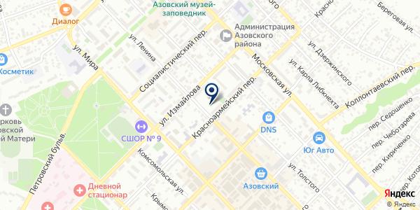 Gold на карте Азове