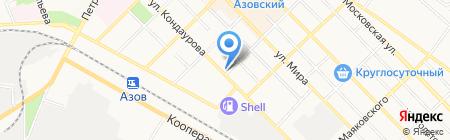 Платежный терминал АКБ МОСОБЛБАНК на карте Азова