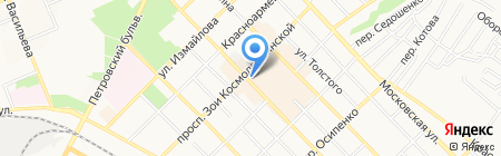 Гермес на карте Азова