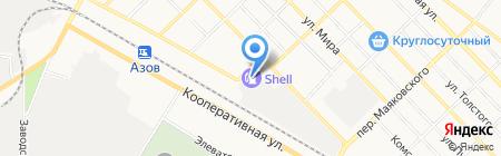АЗС Башнефть на карте Азова