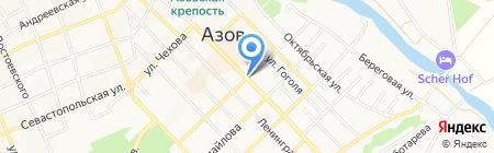 Рубин на карте Азова