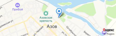 Российский морской регистр судоходства на карте Азова