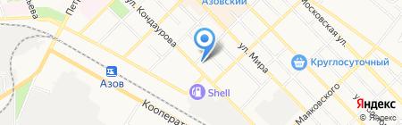 РаЗвилка на карте Азова