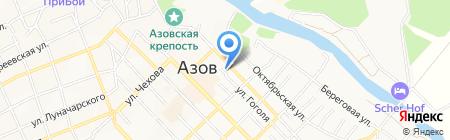АКБ Донхлеббанк на карте Азова