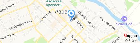 Азовчанка на карте Азова