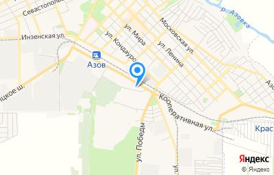 Местоположение на карте пункта техосмотра по адресу Ростовская обл, г Азов, ул Кооперативная, д 15