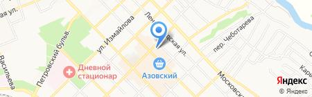 Юлия на карте Азова