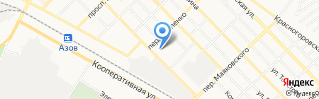 Аури-Спа на карте Азова