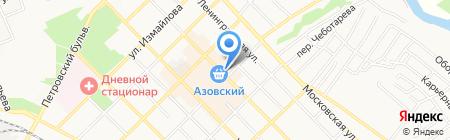 Азовская швейная фабрика №13 на карте Азова
