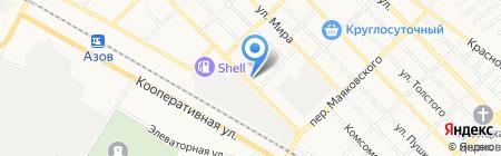 Лина на карте Азова