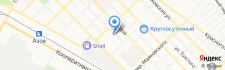 ТЭК на карте Азова