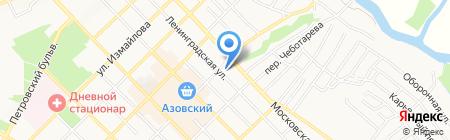Style красоты на карте Азова