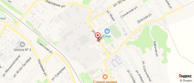 Карта расположения пункта доставки Билайн в городе Каменка