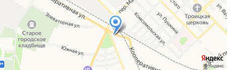 АЗС на Кооперативной на карте Азова
