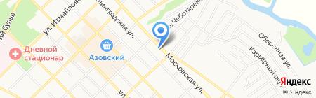 Средняя общеобразовательная школа №2 на карте Азова