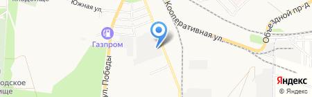 Азовский хлеб на карте Азова