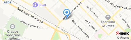 Сакура на карте Азова