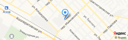 Азов-Тэк на карте Азова