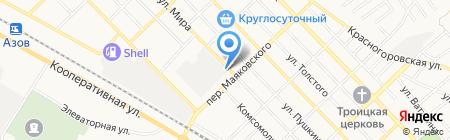 Керамик на карте Азова