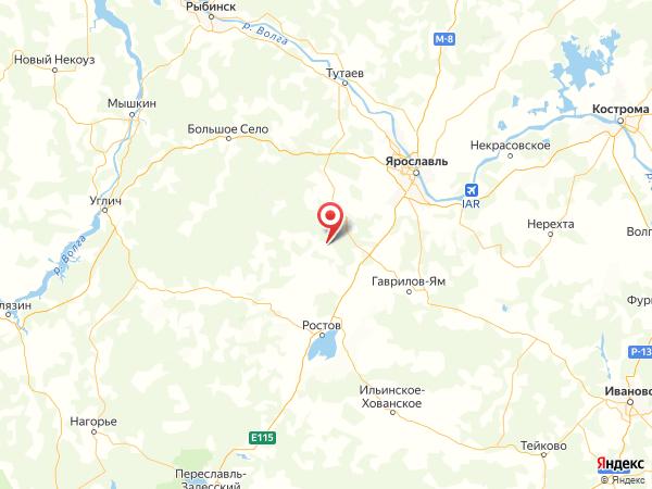 поселок Кощеево на карте