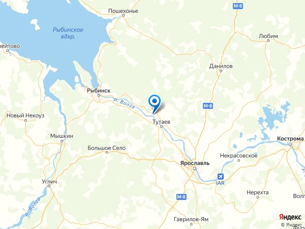 село Вознесенье на карте