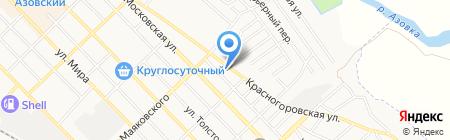 Детский сад №8 Малинка на карте Азова