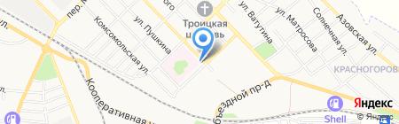 Артек на карте Азова