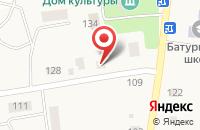 Схема проезда до компании Почтовое отделение в Новом Батурино