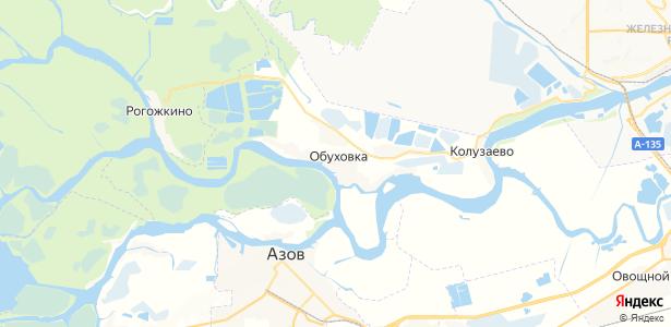 Обуховка на карте