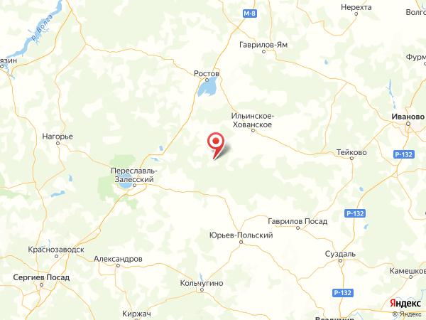 деревня Малиново на карте